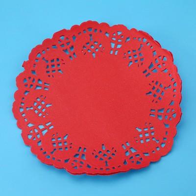 光美8.5寸圆形花底纸通花垫纸 一次